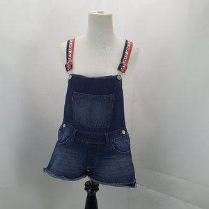 Levis Shortall Denim Shorts Overalls Romper Womens